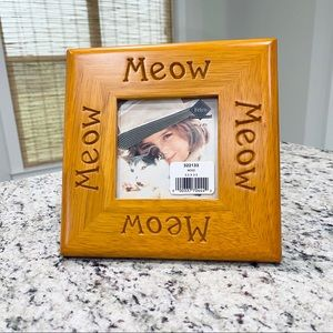 Vintage Fetco Wooden Meow Picture Frame